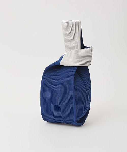 NOTCHED RIB BAG ブルー x ライトグレー(伊勢丹新宿店 本館限定)¥12,000