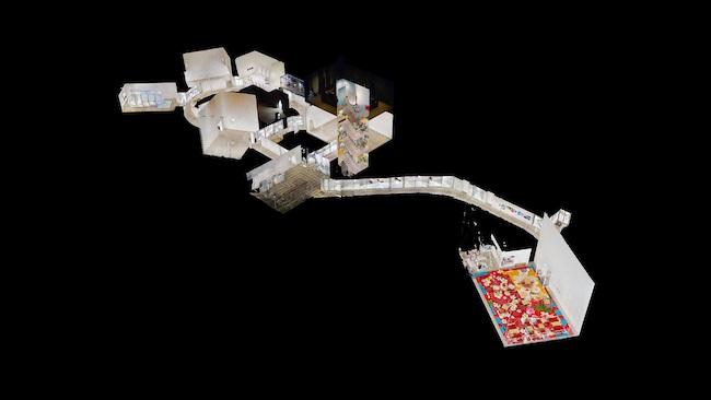 十和田市現代美術館3DVR ドールハウス表示