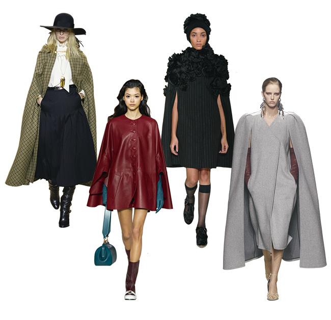 左からCeline、Lanvin、Erdem、Givenchy