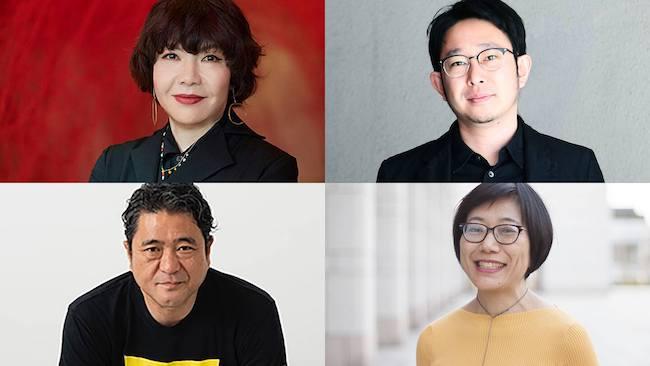 左上:片岡真実(photo:Ito Akinori)、左下:中村政人、右上:遠山昇司、右下:帆足亜紀