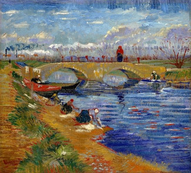 フィンセント・ファン・ゴッホ 『ヴィゲラ運河にかかるグレーズ橋』 (1888年) ポーラ美術館
