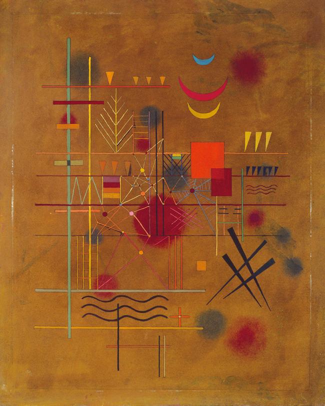 ヴァシリィ・カンディンスキー 《網の中の赤》 1927年 横浜美術館蔵