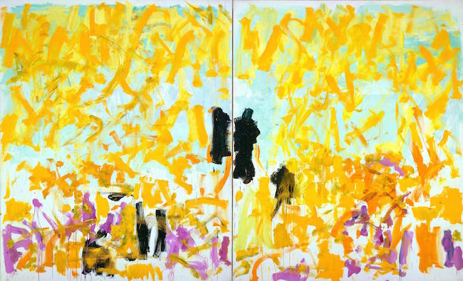 JOAN MITCHELL Cypress 1980年 油彩、キャンバス (二連画) Oil on canvas (diptych) 220.3 x 360.7 cm Courtesy of the Fondation Louis Vuitton © The Estate of Joan Mitchell