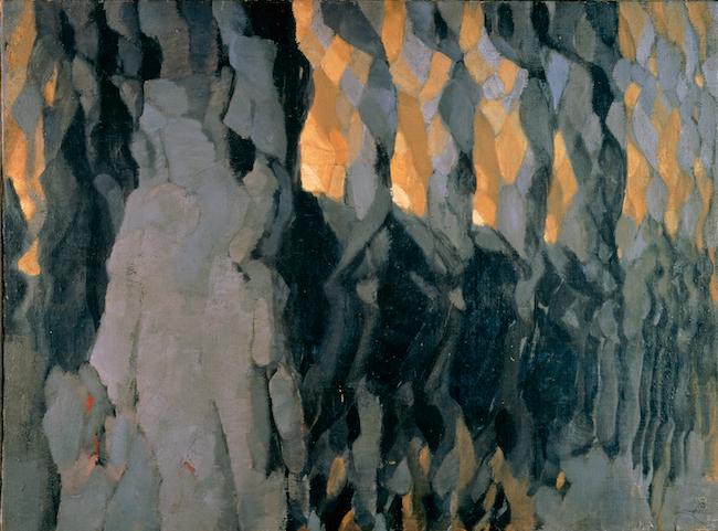 フランティシェク・クプカ  《灰色と金色の展開》1920-21年  愛知県美術館蔵