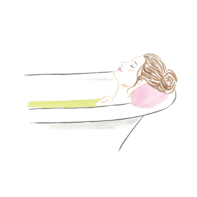 湯温は38〜41度が適温。42度以上は交感神経が高くなったり湯疲れしやすいので、逆に眠れなくなることも。