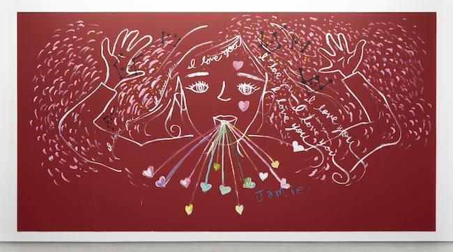 大宮エリー 『赤い女の子』 (2013年) ©︎Ellie Omiya ,courtesy of Tomio Koyama Gallery
