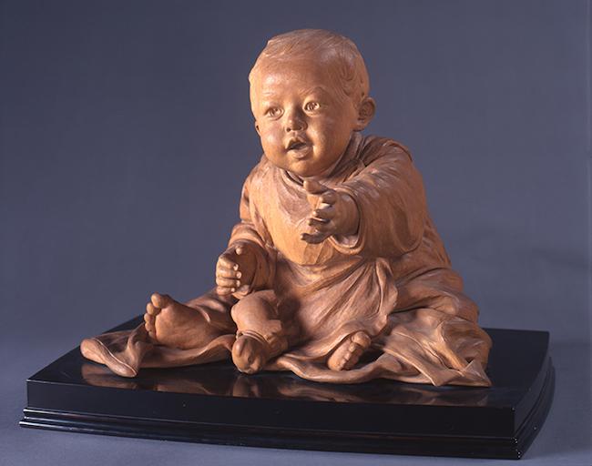 平櫛田中『幼児狗張子』(1911年)井原市立田中美術館蔵