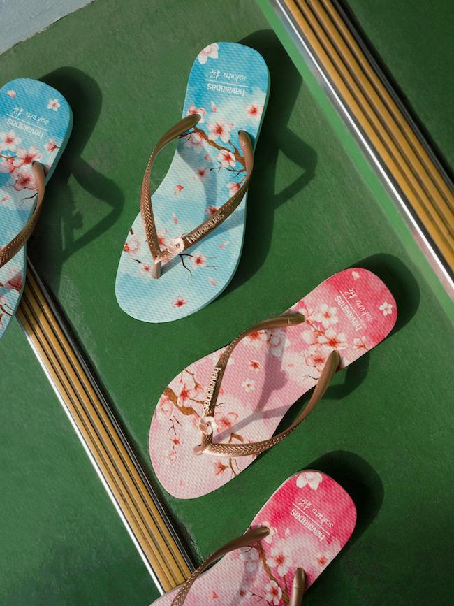 ビーチサンダル(バレットローズ/バレットスカイ)サイズ: 33/34 - 39/40(22-25cm) ¥3,990(税込)© Kisshomaru Shimamura