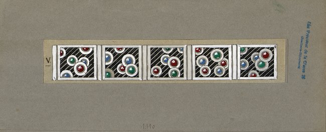 1925年パリ万博に出品されたブレスレットのスケッチ