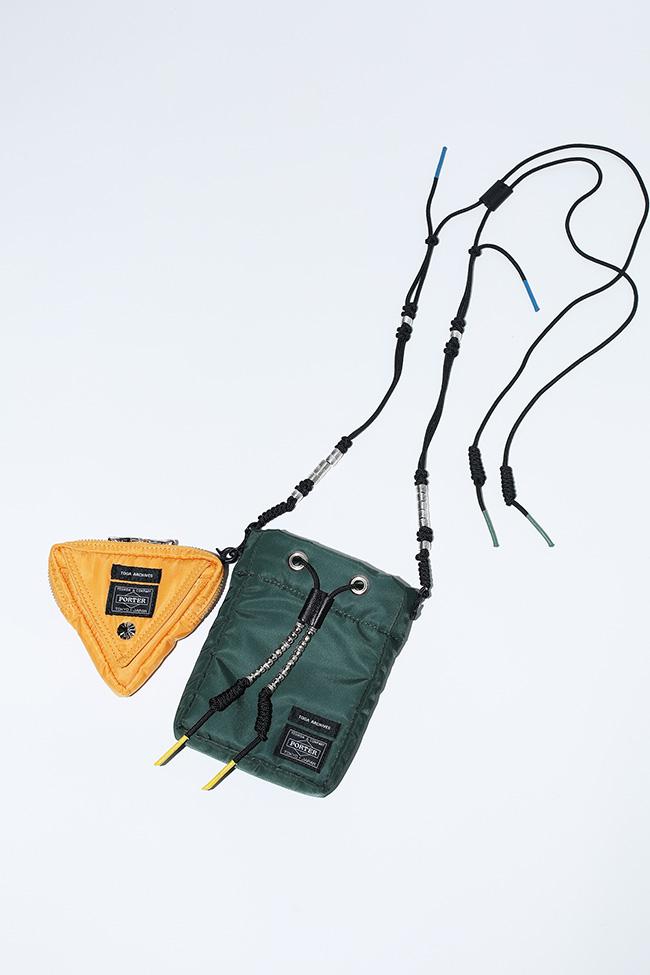 Double mini bag ¥29,000(ベージュ/カーキ/ブルー/ブラック)