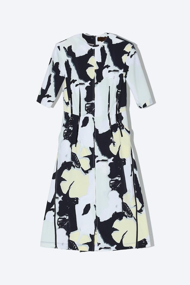 Zip dress SPEEDO SP print ¥89,000(サイズ36/38/40 カラー イエロー/レッド)※第一弾
