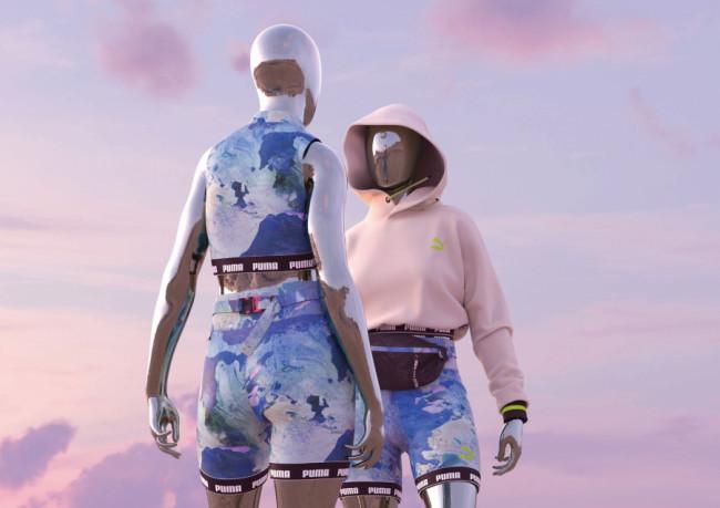 物理的な環境負荷を伴わない衣服のあり方を探求すべくプーマと共同展開した「Day Zero」2021年春夏コレクションより。