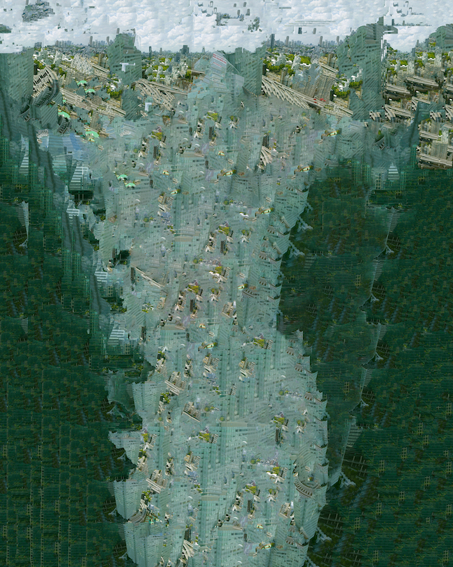 伊奈英次 『残滓の結晶ー六本木』 Photo© Eiji INA