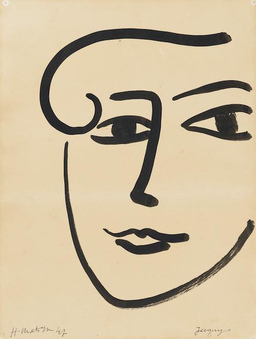アンリ・マティス『ジャッキー』1947 年