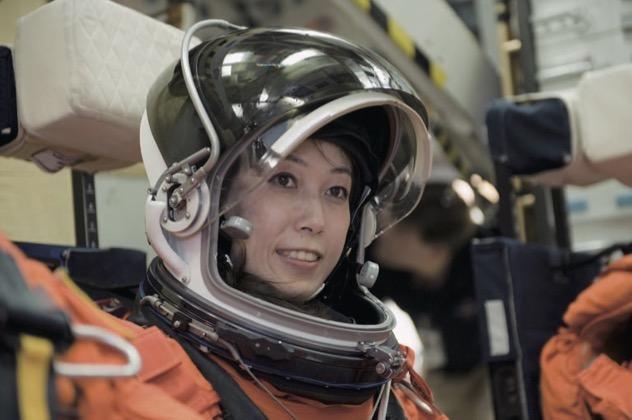 国際宇宙ステーション(ISS)組立補給ミッションSTS-131 に従事するために宇宙に発つ前の訓練の様子。(2010年)©JAXA/NASA