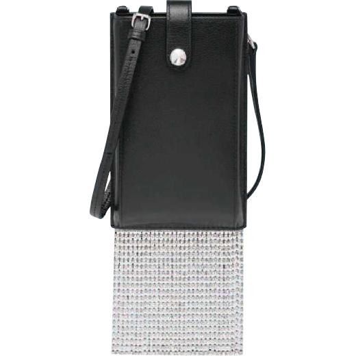 クリスタルフリンジのスマートフォンケース(W10×H18.5cm) ¥85,800(予定価格)/Miu Miu(ミュウミュウ クライアントサー ビス 0120-451-993)