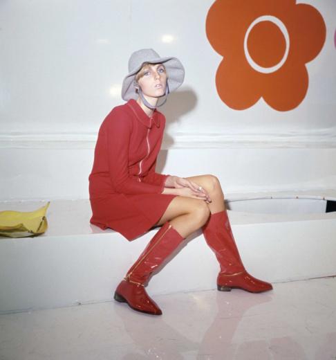 1967年マリークヮントのルック。 Photo by PA Images / Aflo