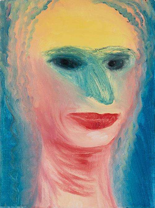 ミリアム・カーン『無題』1999年12月29日 油彩、キャンバス 28.3×21.3 cm 所蔵:OKETA COLLECTION(東京)
