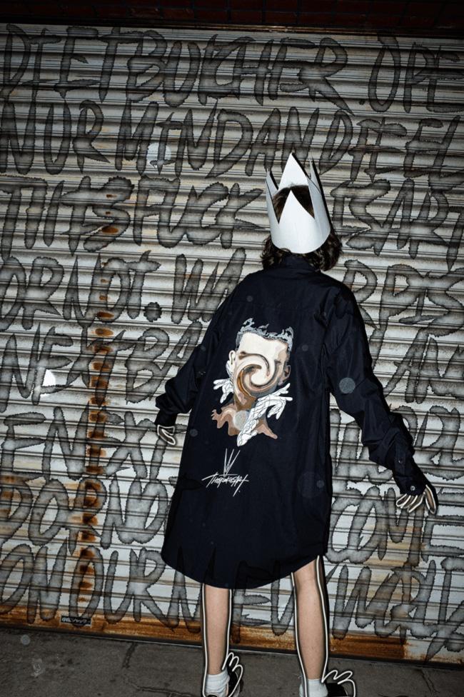 Long shirt 4色展開 ¥38,500 (税込)