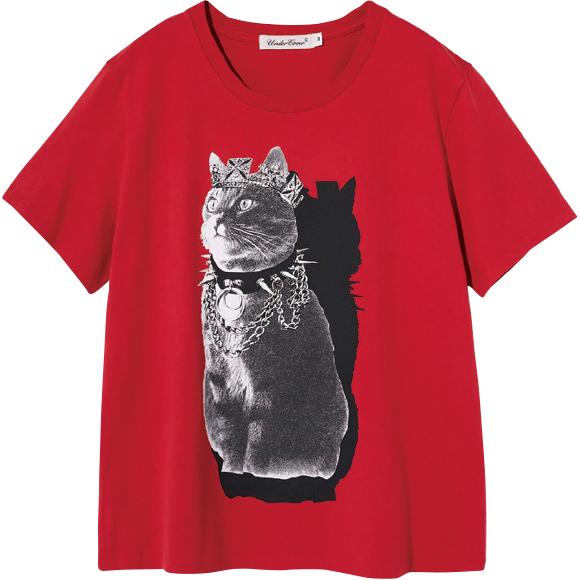 ジュエリーキャットのプリントTシャツ ¥11,000/Undercover(アンダーカバー  03-3407-1232)