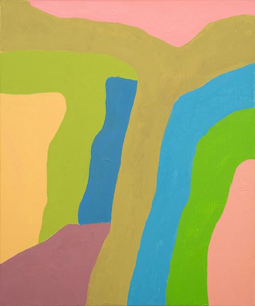 エテル・アドナン『無題』 2018年 油彩、キャンバス 55×46 cm Courtesy: Sfeir-Semler Gallery Beirut / Hamburg