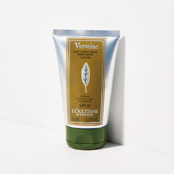 ヴァーベナ UVフレッシュボディローション〈SPF30/PA+++〉[125ml] ¥3,740/L'Occitane(ロクシタンジャポン カスタマーサービス 0570-66-6940)