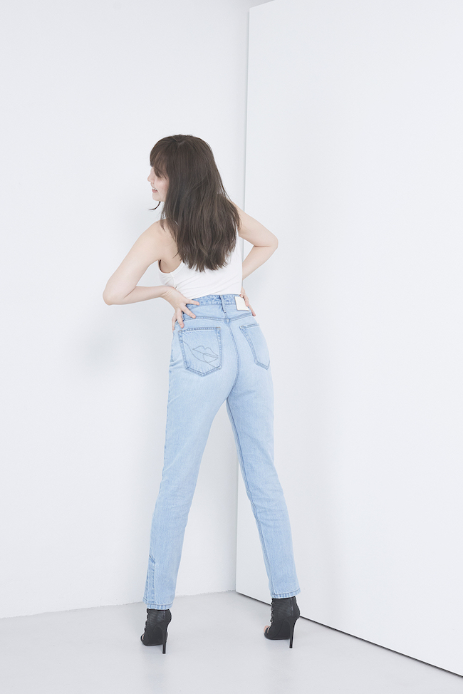 Tokyo High Rise Jeans blue/ black( ¥25,300 tax in)