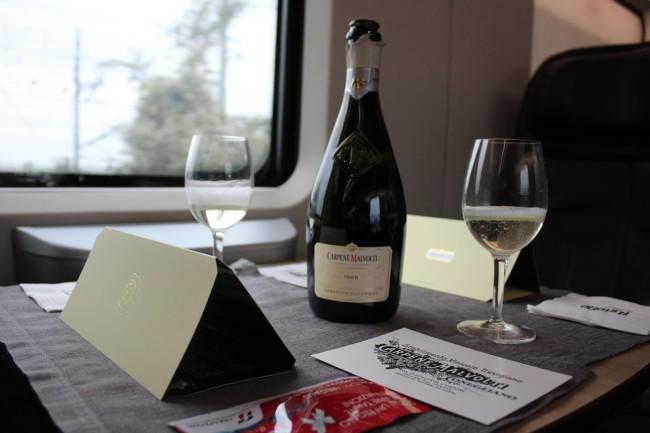 イタリアの高速列車、フレッチャロッサでも提供されているプロセッコ