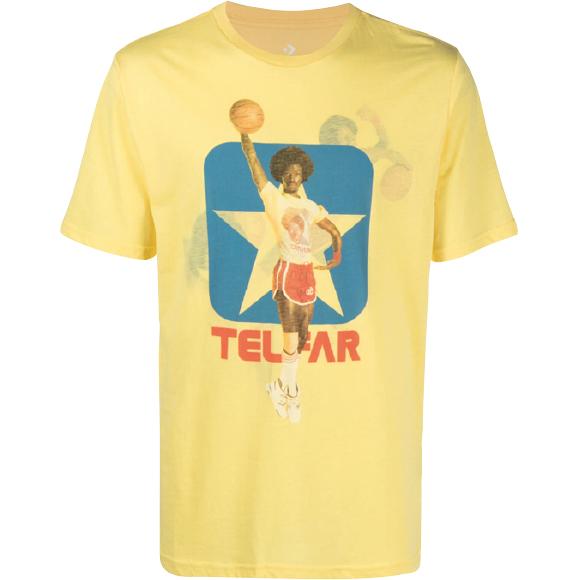 バスケットボールプリントTシャツ ¥11,400(参考価格)/Telfar(ファーフェッチカスタマーサービス 050-3205-0749)
