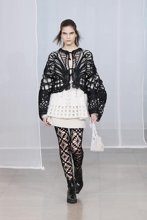 Mame Kurogouchi/ジャケット、ニット、スカート、ソックス、バッグ、シューズ/2020年秋冬/Mame Kurogouchi