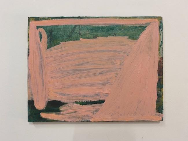 杉戸洋『Untitled』2021年 oil on canvas 320×410㎜