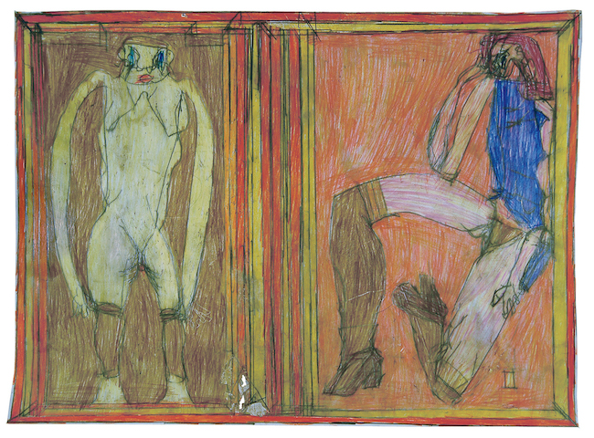 ヨーゼフ・ホーファー『無題』 2009年  鉛筆、色鉛筆、紙 44×60cm
