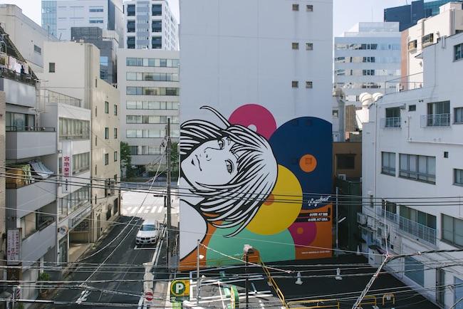 Hogalee『Landmark Art Girl』2020 神田小川町宝ビル Photo by YUKAI ©東京ビエンナーレ