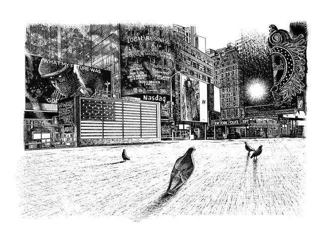 大岩オスカール 『タイムズ・スクエア、ニューヨーク』 (2020年) アートフロントギャラリー蔵(特別出品) ©OSCAR OIWA