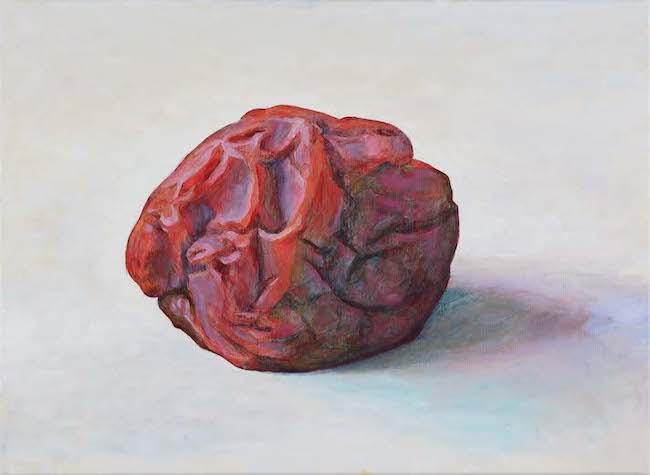 『梅干し』 2021 キャンバスにアクリル絵具、油絵具 33.5×45.5cm 撮影:宮島径 © AIDA Makoto Courteys of Mizuma Art Gallery