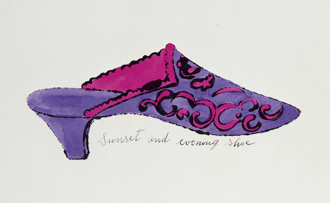 """Sunset and Evening Shoe, from"""" A la Recherche du Shoe Perdu"""", 1955 © 2021 The Andy Warhol Foundation for the Visual Arts, Inc. / Licensed by ARS, New York & JASPAR, Tokyo G2573( アフロ)"""