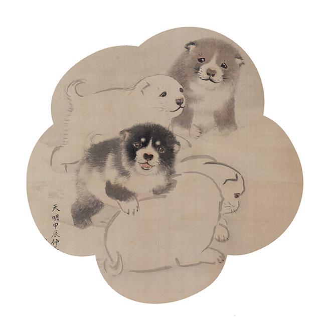 つぶらな瞳、もふもふのフォルム、小さな尻尾にキュン。円山応挙は「リアルでかわいい」子犬を描いた初の画家。円山応挙『子犬図』 ※