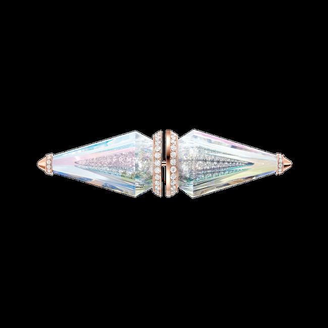 ブローチ(ダイヤモンド×ファンシーカット ホログラフィック ロッククリスタル×ピンクゴールド)¥13,068,000(予定価格)