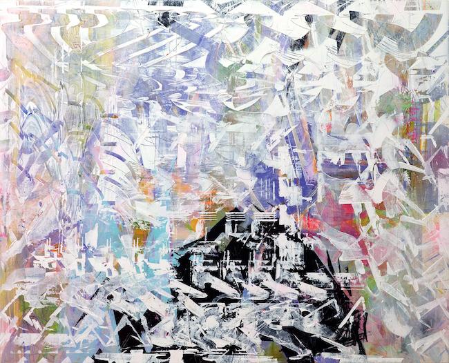小畑 多丘《untitled》, 2020, acrylic on canvas, H1820×W2240×D50mm