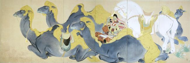 川端龍子『源義経(ジンギスカン)』1938 年、大田区立龍子記念館