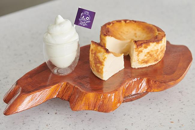 「バスクチーズケーキ&濃厚ソフトクリーム」J_O PRIVATE MENU ¥8,500 J_O SPECIAL MENU ¥6,000 ※BISTRO J_Oにて提供。コース料理のみ、単品での提供なし。