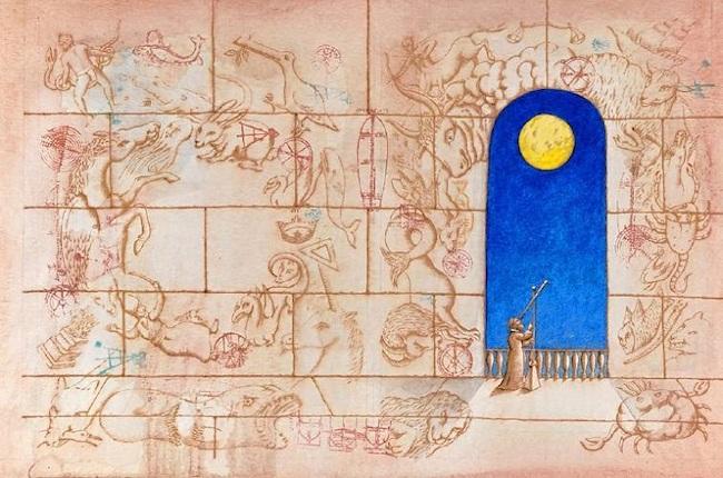 『星の使者 ガリレオ・ガリレイ』原画 作家蔵(エリック・カール絵本美術館寄託) (1996年) ©Peter Sis, 1996