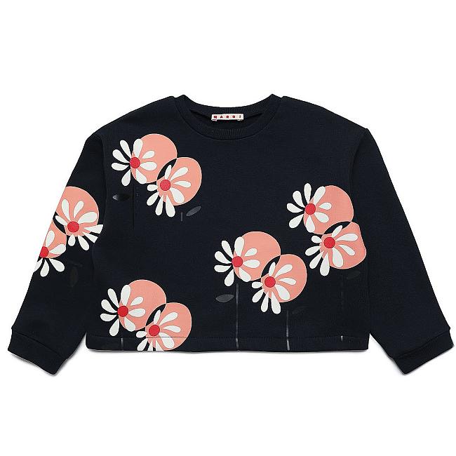 スウェット トップス ¥22,000 (Size: 6Y & 10Y)※同柄のスカートもあり