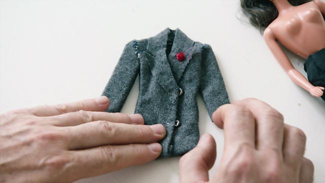 初めて自身で作った服。「既にマルジェラっぽい」とは本人の談。