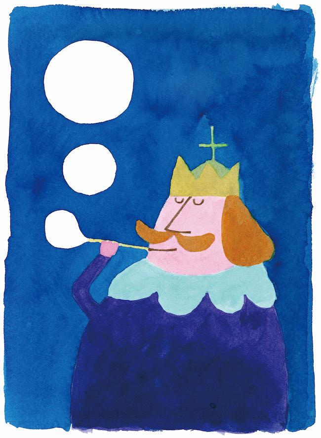 『ぼくは王さま』 (文・寺村輝夫) 表紙 (1967年) 理論社 多摩美術大学アートアーカイヴセンター蔵 ©Wada Makoto