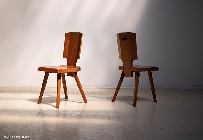 All Wood Chair S28/France/1970s