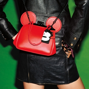 Mickey Smooth Leather Kisslock Wrl