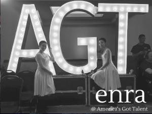 アメリカの人気TV番組「America's Got Talent」に登場したenraを応援してきたの画像